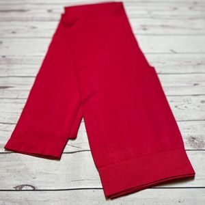 Zenana Outfitters Red Leggings Size L/XL